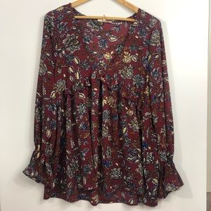 ENTRO ANTHROPOLOGIE FLORAL BLOUSE